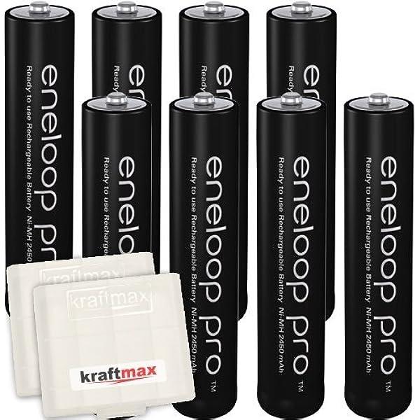 Kraftmax Eneloop Pro XX 42574619 Panasonic pilas AAA (8-unidades, 930 mAh): Amazon.es: Electrónica