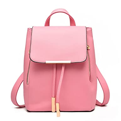 Amazon.com | Women Backpack Leather Purse Mini Casual Daypack for ...