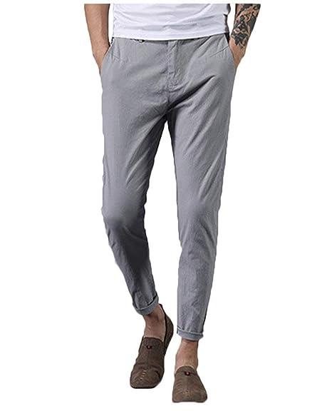 BoBoLily Pantalones De Hombre Pantalones De Chándal De Color Puro ...