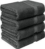 """Bath Towels Luxury Cotton Soft 600 GSM 4 Pack Set 27 x 54"""""""