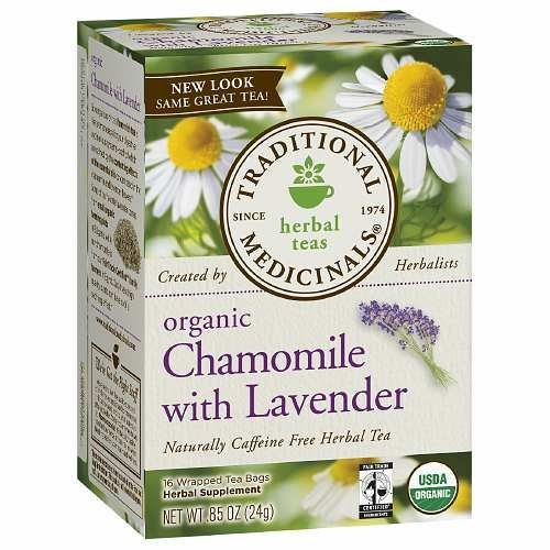 Traditional Medicinals Organic Chamomile With Lavender Herbal Tea - 16 Tea Bags (Pack Of 2)
