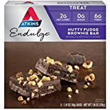 Atkins Endulge Treat, Nutty Fudge Brownie Bar, 5 Bars