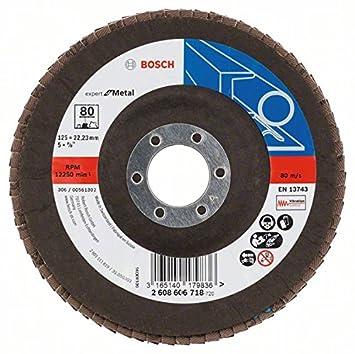 1/pieza grano 80 260925/C025 Bosch faecher lija X551/para metal 125/mm