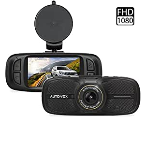 AUTO-VOX D2 Dash Cam,2.7'' LCD 1080P Full HD Dashboard Camera DVR Recorder with G-Sensor WDR Loop Recording--Eyewitness On The Road