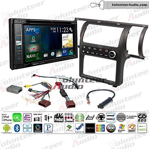Infiniti G35 Double Din - Pioneer AVIC-5201NEX Double Din Radio Install Kit With Apple CarPlay, Navigation, Sirius XM Ready Fits 2003-2004 Infiniti G35 (Charcoal) (Dual zone A/C controls)