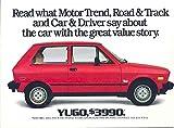 1987 Yugo USA GV Brochure Fiat
