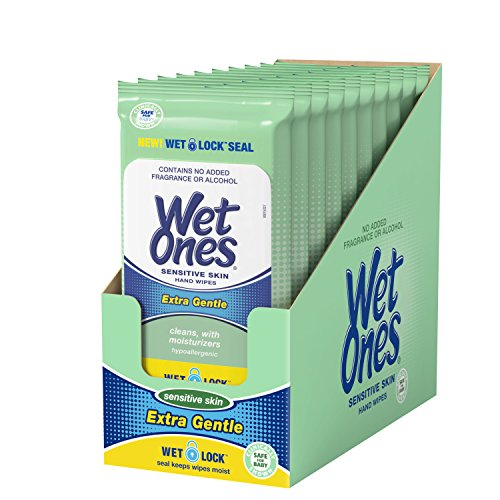 Price comparison product image Wet Ones Sensitive Skin Hand Wipes, 20 Count (Pack Of 10)