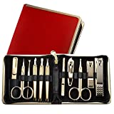 World No. 1. Three Seven (777) Travel Manicure Grooming Kit Nail Clipper Set (11 PCs, TS-950RG), MADE IN KOREA, SINCE 1975.
