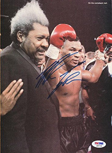 Mike Tyson Autographed Signed Magazine Page Photo Vintage Q65726 PSA/DNA Certified Autographed Boxing Magazines