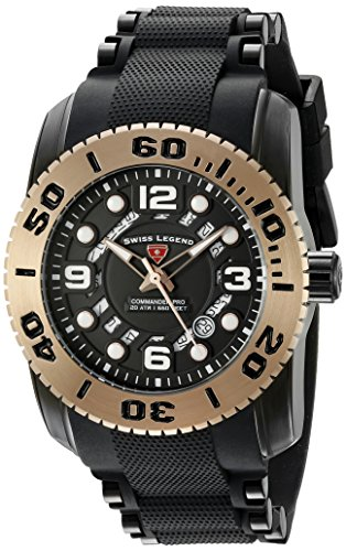 Swiss Legend Men's 'Commander Pro' Swiss Quartz Stainless Steel Casual Watch (Model: 10069-BB-01-RBA)