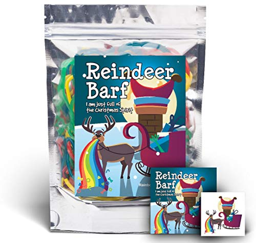 Reindeer Barf - Rainbow Lace Licorice - Funny Unique Christmas Stocking Stuffer Gag Gift for Teens, Girls, Boys and Kids (Gift Licorice)