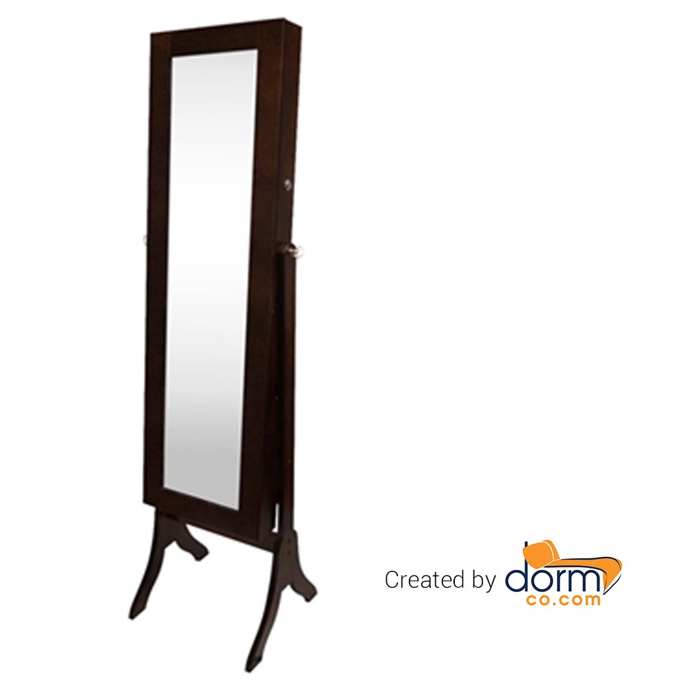 Full-Length Mirror Jewelry Stand - Brown Tall