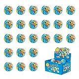 world ball - Liberty Imports 24 Pack - Mini Globe Planet Earth Soft Foam Stress Ball Toy Bulk Educational Novelties for Kids, School, Classroom, Party Favors - (2.5
