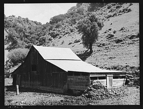 Photo: Barn in a valley back of Mission San Jose. Santa Clara - Clara Santa In Shopping