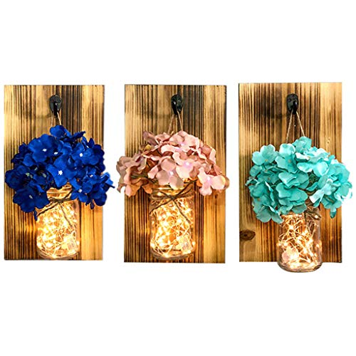 oration Restaurant Wall Decorations Wall-Mounted Coffee Shop Wall Vase Pendant Wall Hanging Flower Pot (Color : Brown, Size : 18132cm/70.113inch) ()
