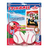 Hog Wild Stikball and Strike-Zone Target - Squishy Stikball Baseball Splats and Sticks to Strike-Zone Target - Ages 4+