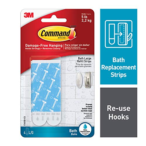 Command Large Water-Resistant Refill Strips, - Strips Command Replacement