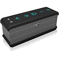 Meidong iChocolate Bluetooth Speakers, Portable Wireless Bluetooth Speaker 4.0 for Echo Dot with Big Subwoofer Enhanced Bass and Built-in Microphone for iPad/iPhone/Samsung and More (Black)