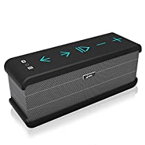 Meidong iChocolate Portable Wireless Bluetooth Speaker with Enhanced Bass and Built-in Microphone for iPhone iPad Laptop MP3 Player