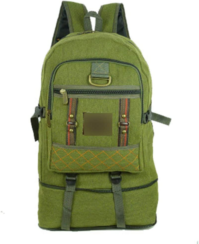 JITALFASH 50L large Capacity Outdoor Sports Backpack Canvas Travel Rucksack Heavy Duty Bag Pirates Green 50-70L