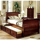 Louis Philippe Jr. Full Size Dark Cherry Bed Frame