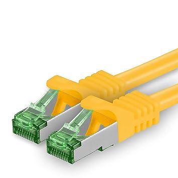 1x Netzwerk-//Patch-Kabel SFTP CAT5 CAT5e gelb 5m