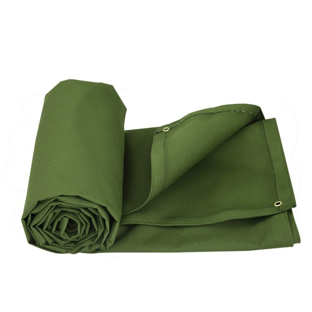 YXNN Outdoor Padded Rain Cloth Plane Sonnenschutz LKW Abdecktuch Grün 0.55mm (größe   5  4M)