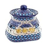 Polish Pottery Savannah Small Garlic Keeper