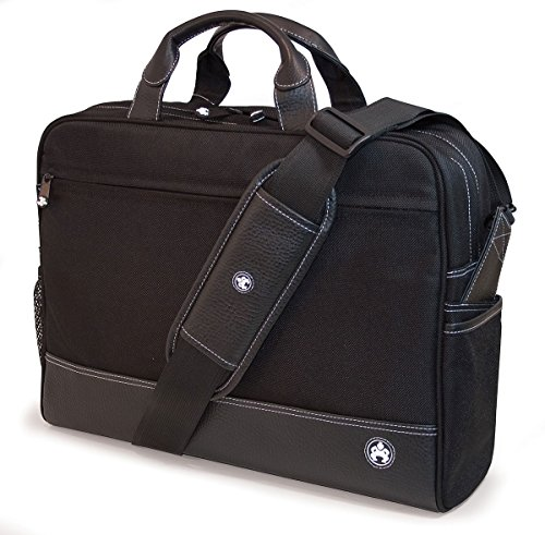 Mobile Edge Sumo 17'' Professional Laptop Briefcase, Computer Case in Black (17' Laptop Leather Brief)