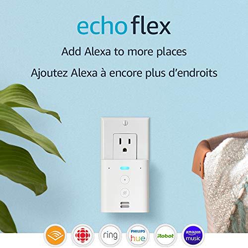 Echo Flex – Plug-in mini smart speaker with Alexa