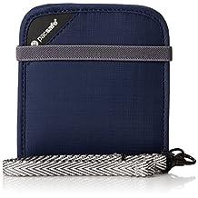 Pacsafe RFIDsafe V100 Anti-Theft RFID Blocking Bi-Fold Wallet, Navy Blue