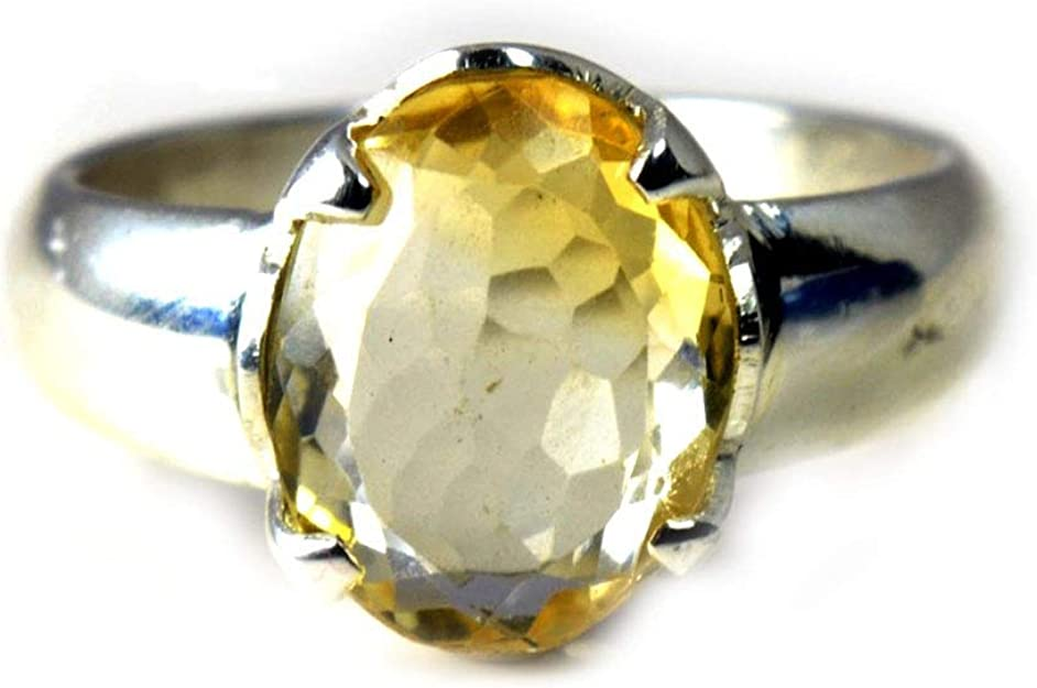 November Birthstone Gift Box Included Raw Citrine Crystal Ring Handcrafted 14K Yellow Gold Natural Gemstone Ring For Men /& Women
