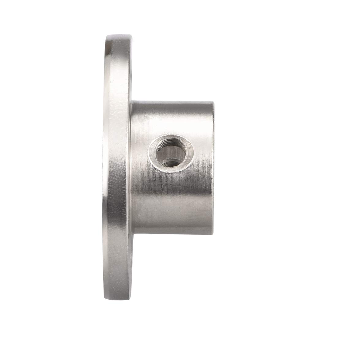 uxcell 8mm Inner Dia H13D16 Rigid Flange Coupling Motor Guide Shaft Coupler Motor Connector Silver Tone for DIY Parts