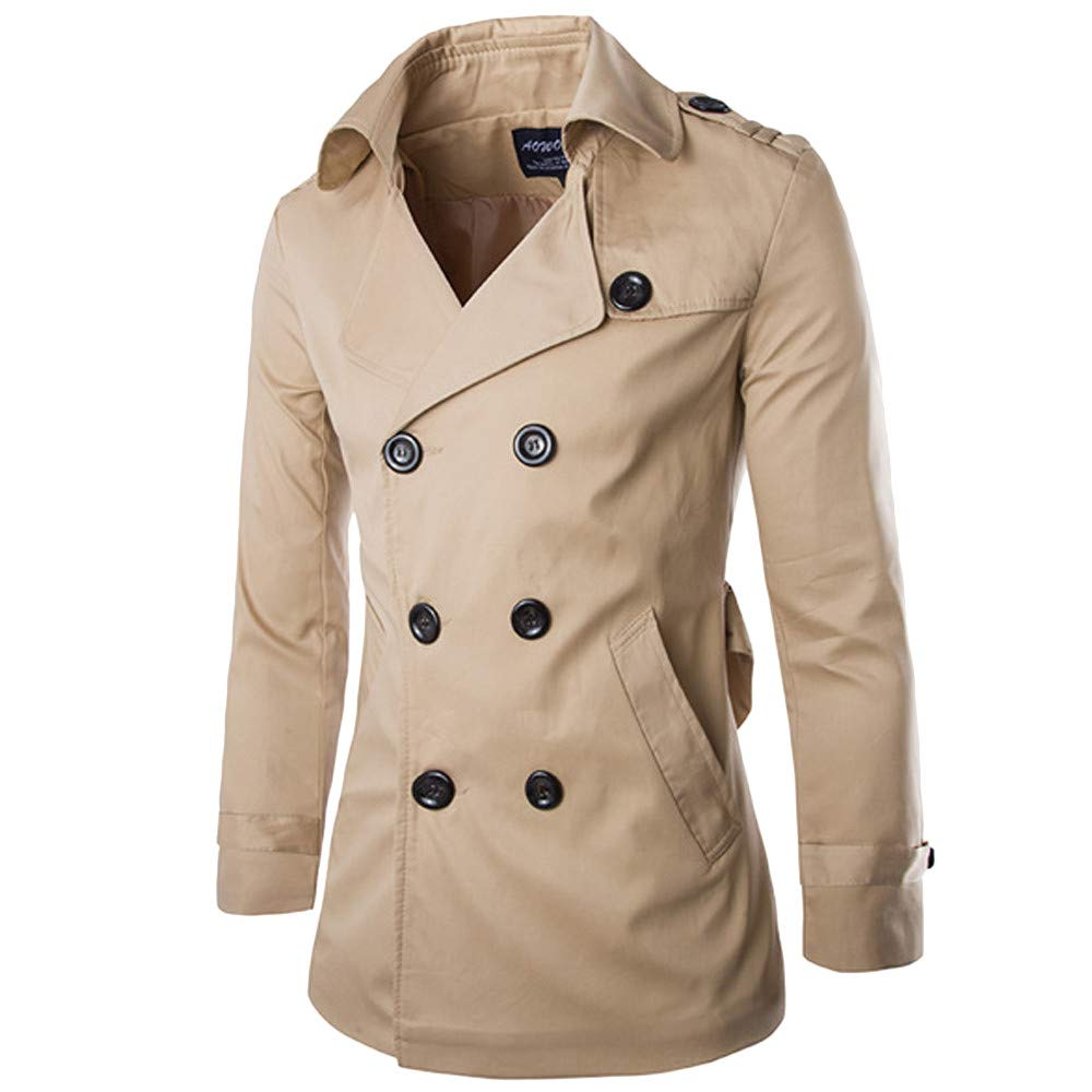 Amazon.com: Clearance Sale for Coat.AIMTOPPY Fashion Mens Solid Color Warm Double Buttons Long Trench Jacket: Computers & Accessories