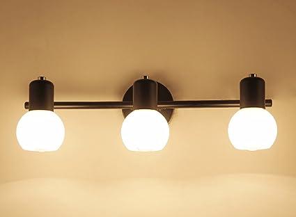 Jcrnjsb specchiera frontale lampada da parete in stile americano