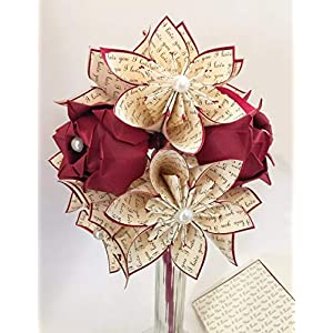 Dozen Flowers & Roses- Vase and card Included, your choice of accent color, traditional first anniversary gift 7