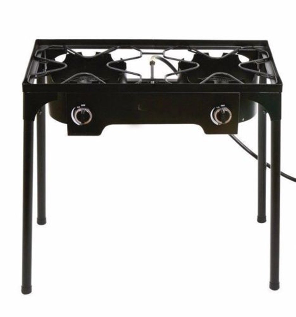 Adumly Propane Stove 2 Burner Gas Outdoor Portable Camping bbq high pressure regulator by Adumly