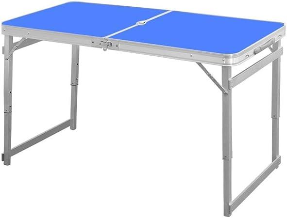 Mesas Plegables 1.6M Aluminio Cámping Picnic Mesa Altura Ajustable Jardín Al Aire Libre Partido con Orificio De Parasol CJC (Color : Azul): Amazon.es: Hogar