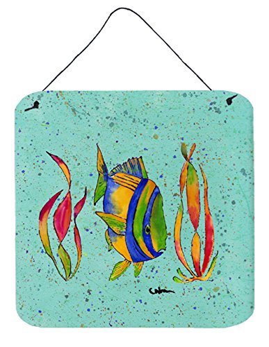 - Caroline's Treasures 8530DS66 Tropical Fish Aluminum Metal Wall or Door Hanging Prints, 6 x 6, Multicolor