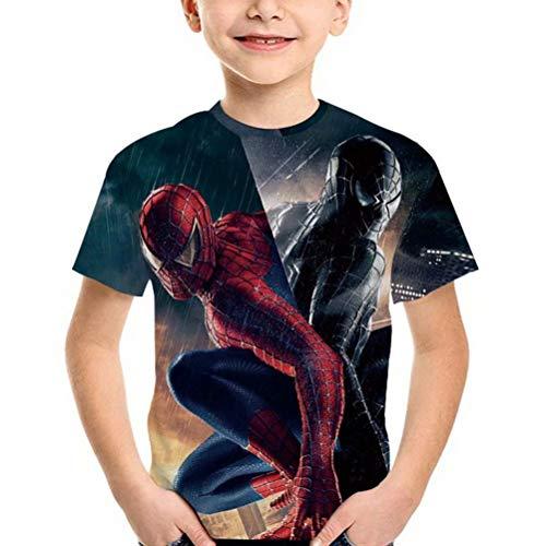 Tsyllyp Spiderman Spider-Man Boys T-Shirts 3D Print Unisex Summer Tees Tops]()