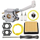 Harbot BP42 Carburetor with 900777005 Air Filter for Ryobi RY08420A RY08420 308054079 530069247 308054093 Carb Tune Up Kit