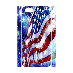 3D Bumper Plastic Customized Case Of American Flag for iPhone 5,5S