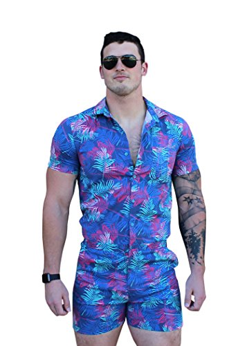 Zesties Male Romper (Small, Palm Tree)