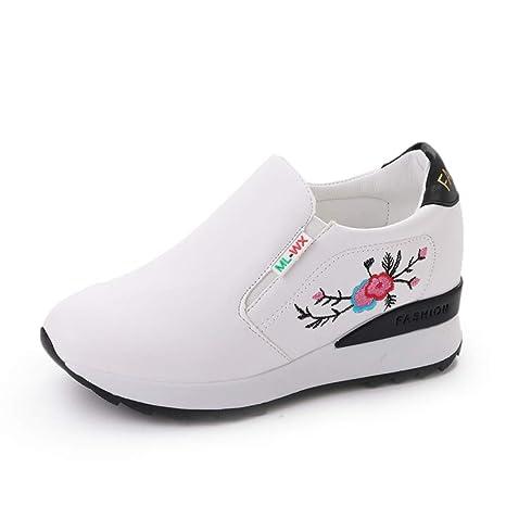 b3f364321c1a2 Amazon.com: DETAIWIN Women Platform Wedge Sneakers Casual Walking ...