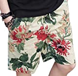 SportsX Men's Oversized Graphic Print Shorts Trunks with Pockets 3 M