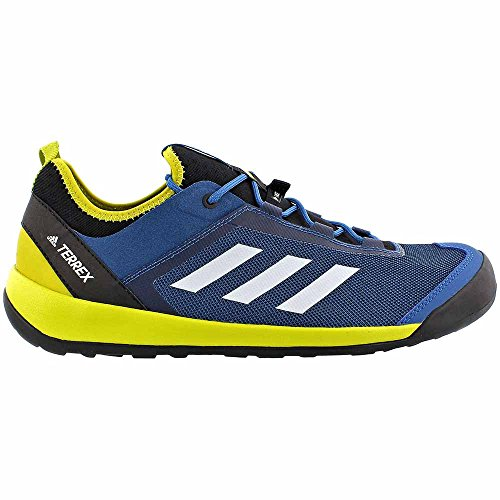 Adidas Outdoor Mens Terrex Swift Solo Core Blu, Bianco Gesso, Unità Lime
