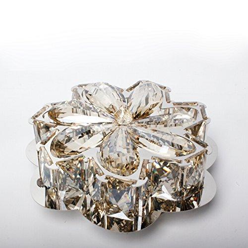 Cozyfoci Chrome Flush Mount Luxury Modern LED Ceiling Light 032AJ K9 Crystal Ceiling Light