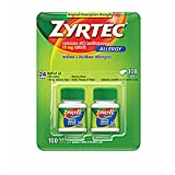 Zyrtec Allergy 10mg Original Prescription Strength Tablets, 100 ct. (pack of 2)