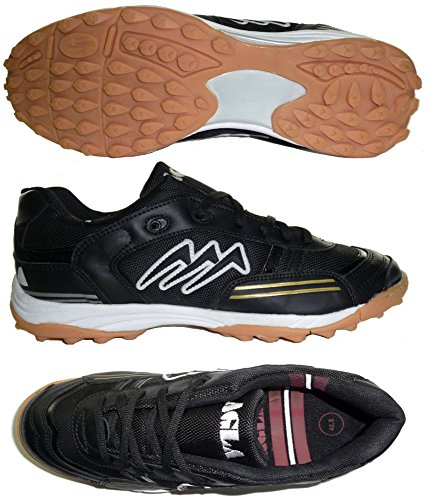 AGLA - Zapatillas de fútbol sala de Material Sintético para hombre Amarillo amarillo 27.5 negro