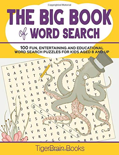 The Big Book Of Word Search  Fun And Educational Word Search Activity Book For 8 Year Olds And Up